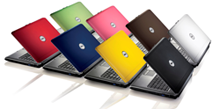 Logo Dell laptop of notebook in 8 verschillende kleuren